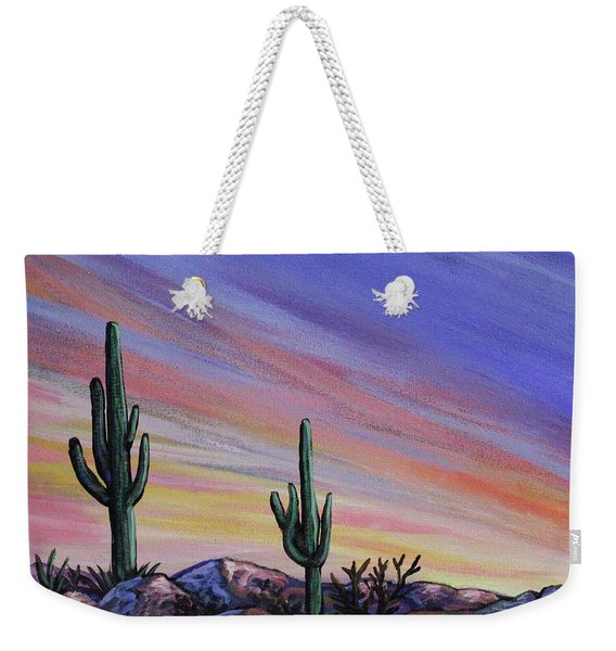 Simple Desert Sunset Three Weekender Tote Bag