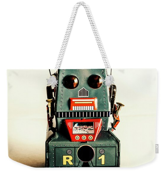 Simple Robot From 1960 Weekender Tote Bag