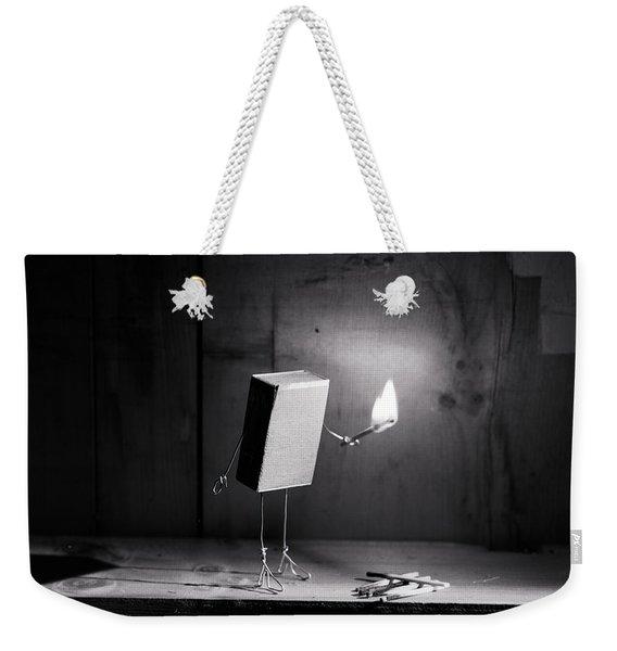 Simple Things - Light In The Dark Weekender Tote Bag