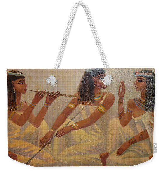 Singers Of Pharaoh Weekender Tote Bag