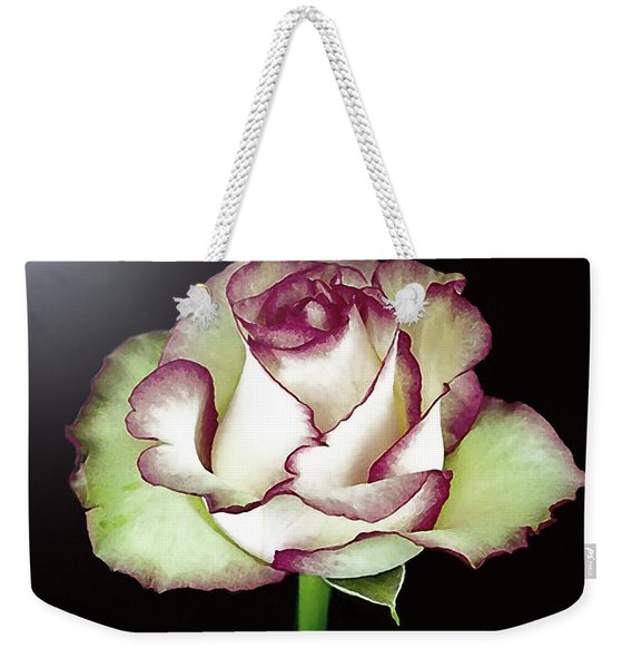 Single Beautiful Rose Weekender Tote Bag