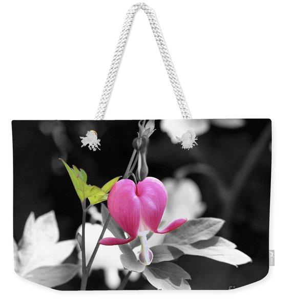 Single Bleeding Heart Partial Weekender Tote Bag