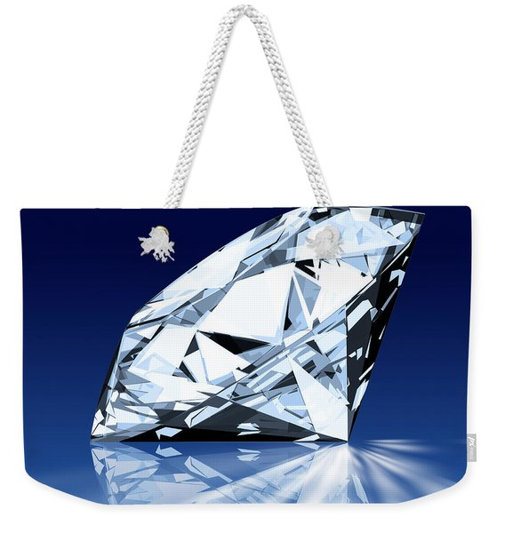 Single Blue Diamond Weekender Tote Bag