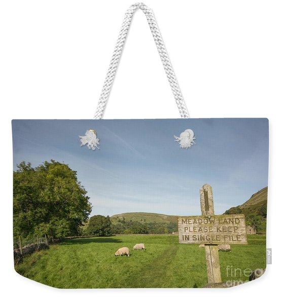 Single File Weekender Tote Bag