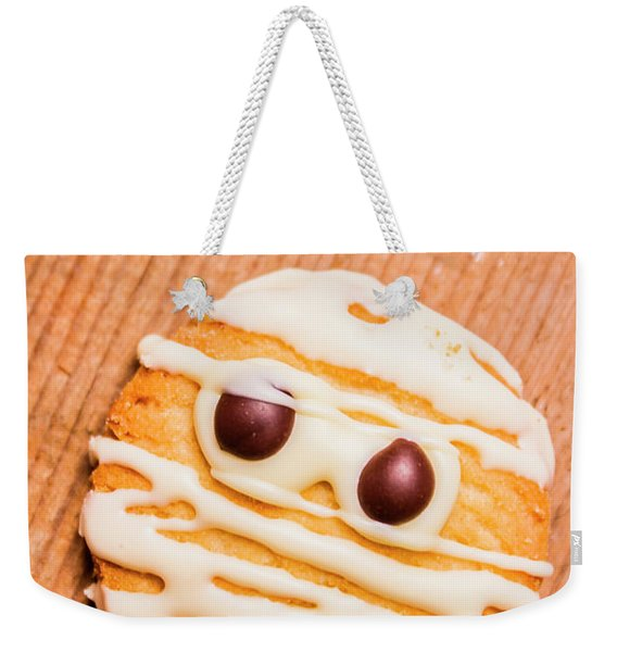 Single Homemade Mummy Cookie For Halloween Weekender Tote Bag