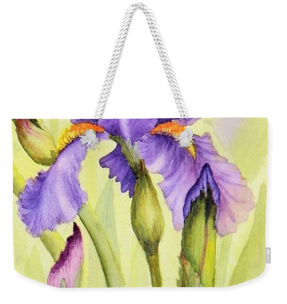 Single Iris Weekender Tote Bag