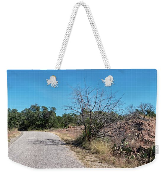 Single Lane Road In The Hill Country Weekender Tote Bag