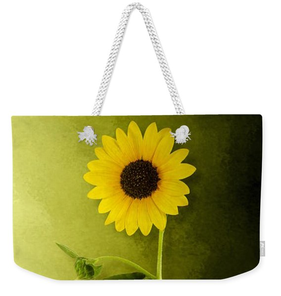 Single Long Stem Sunflower Weekender Tote Bag