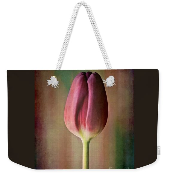 Weekender Tote Bag featuring the photograph Single Stem Beauty by Patricia Strand