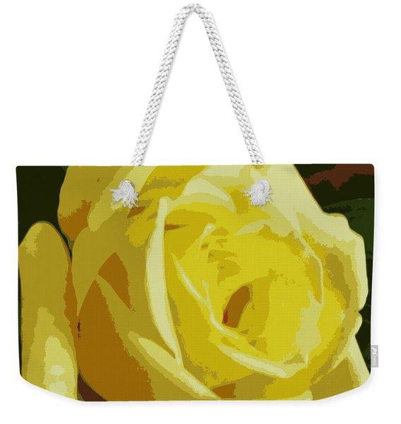 Friendship Rose Abstract Weekender Tote Bag