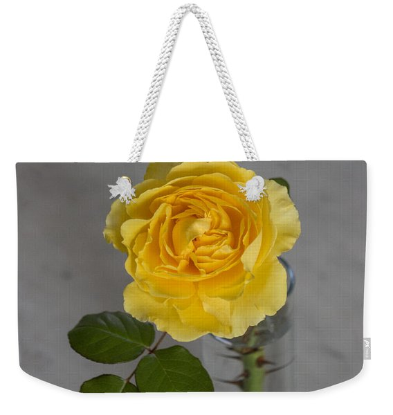 Single Yellow Rose With Thorns Weekender Tote Bag