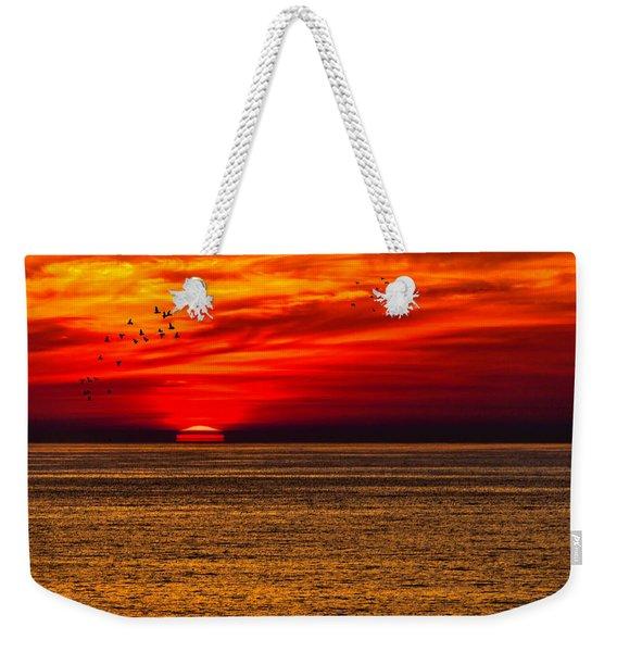 Sinking Setting Sun Weekender Tote Bag