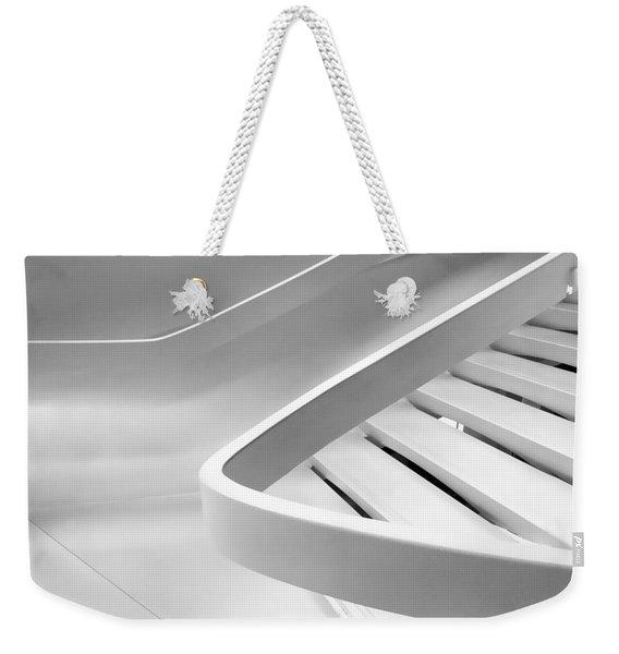 Sinuous In White Weekender Tote Bag