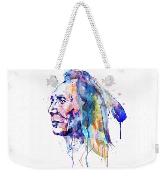 Sioux Warrior Watercolor Weekender Tote Bag