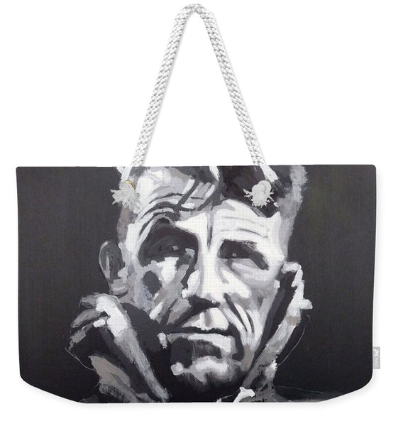 Weekender Tote Bag featuring the painting Sir Edmund Hillary by Richard Le Page