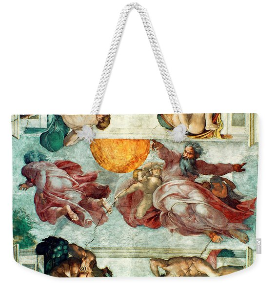 Sistine Chapel Ceiling Creation Of The Sun And Moon Weekender Tote Bag