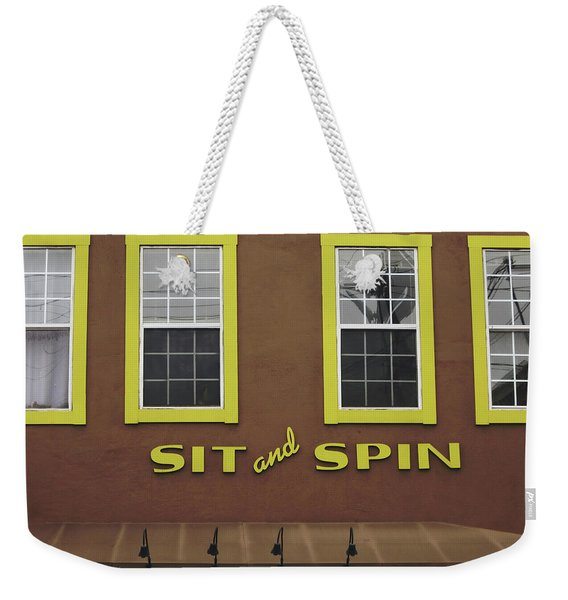 Sit And Spin Laundromat Color- By Linda Woods Weekender Tote Bag