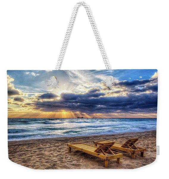 Sit In The Glow Of The Morning Weekender Tote Bag