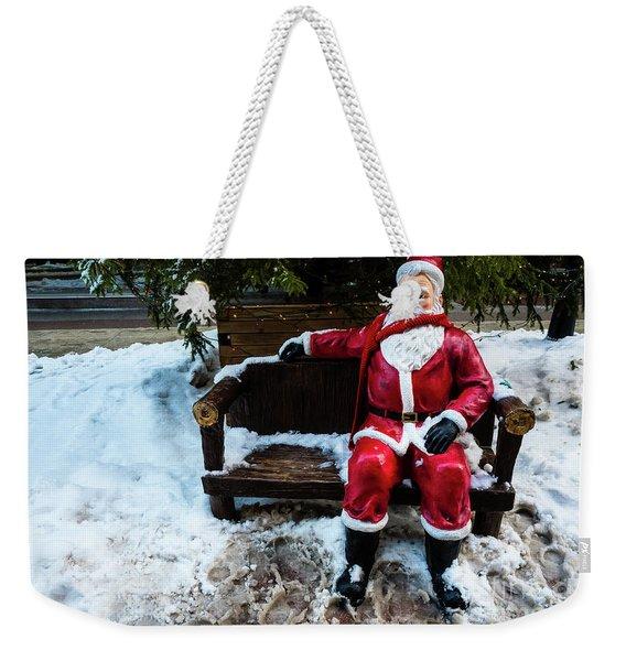 Sit With Santa Weekender Tote Bag