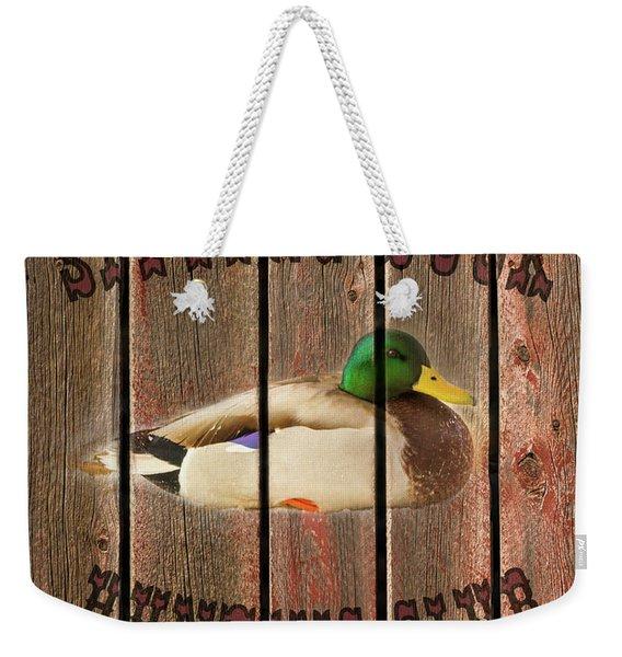Sitting Duck Hunting Club Weekender Tote Bag