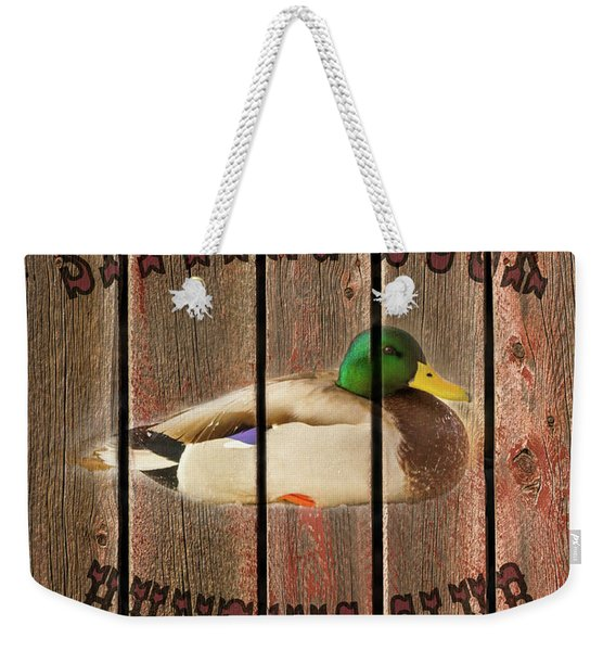 Sitting Duck Hunting Club Weekender Tote Bag