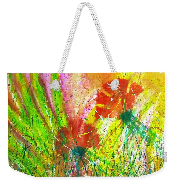 Sitting In The Garden Weekender Tote Bag