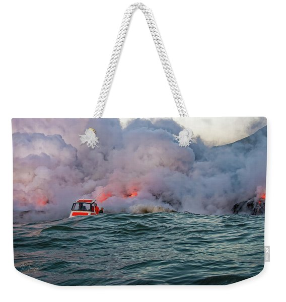 Weekender Tote Bag featuring the photograph Six Pac by Jim Thompson