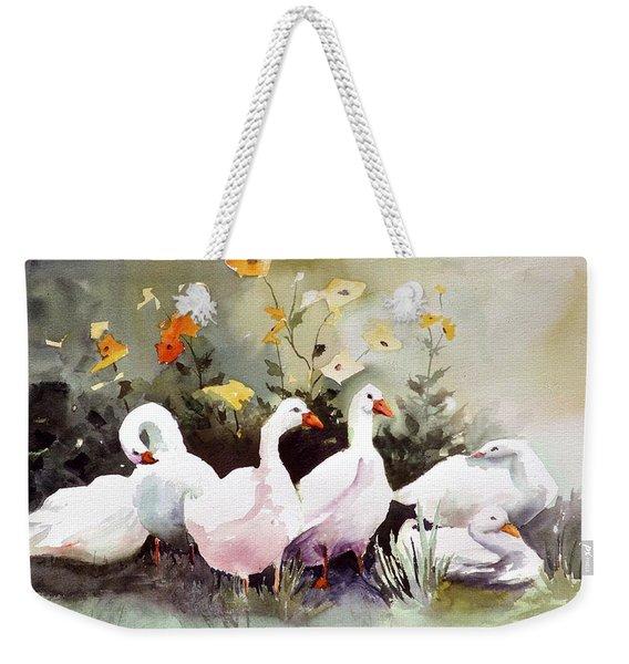Six Quackers Weekender Tote Bag