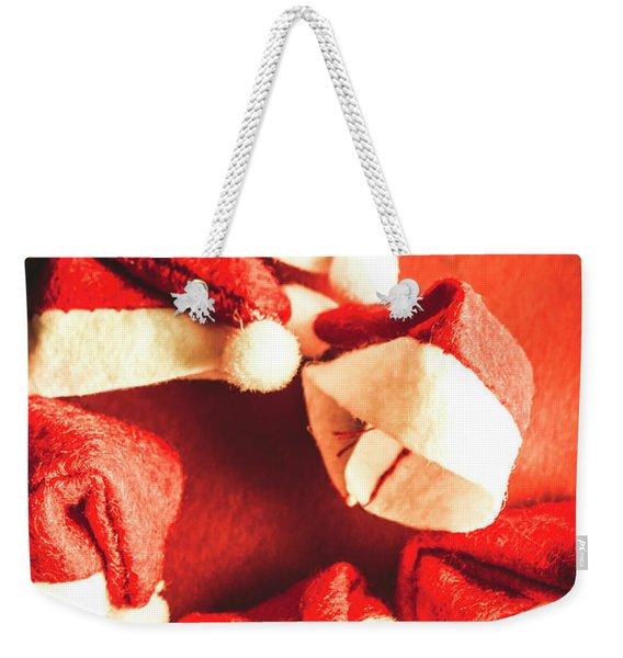 Six Santa Hats In Vintage Tone Weekender Tote Bag