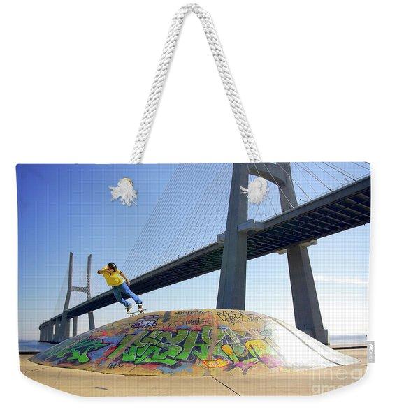 Skate Under Bridge Weekender Tote Bag