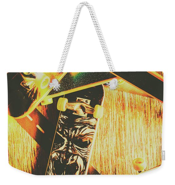 Skateboarding Tricks And Flips Weekender Tote Bag