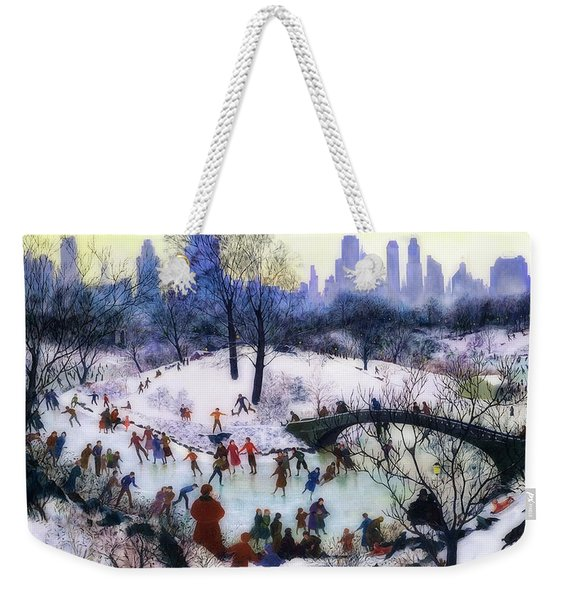 Skating In Central Park Weekender Tote Bag