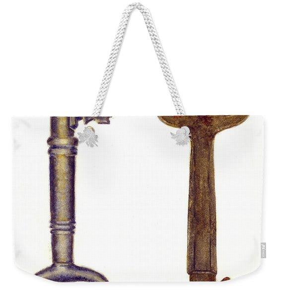 Skeleton Keys Weekender Tote Bag