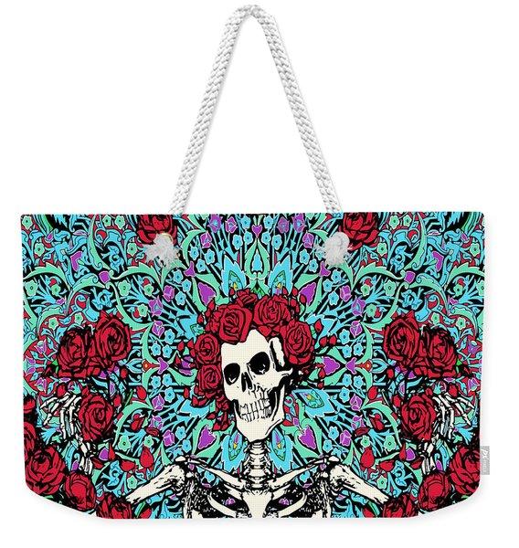 skeleton With Roses Weekender Tote Bag