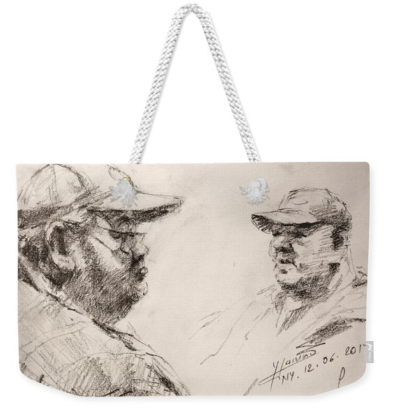 Sketch Man 10 Weekender Tote Bag