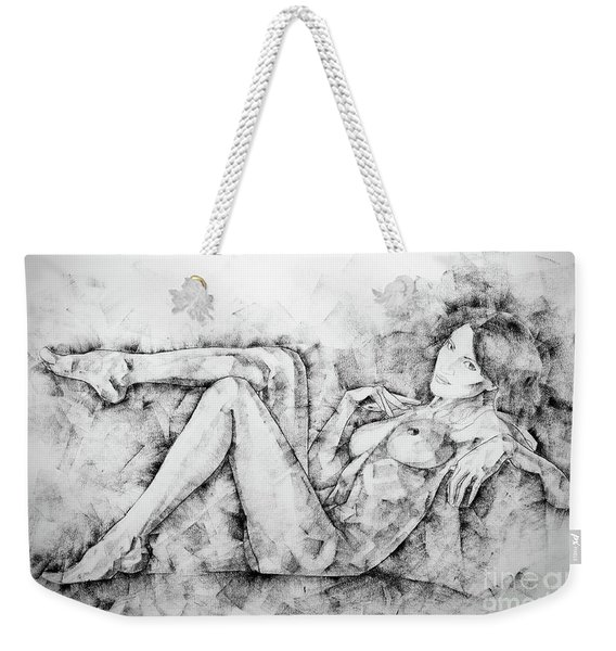 Sketchbook Page 46 Drawing Woman Classical Sitting Pose Weekender Tote Bag