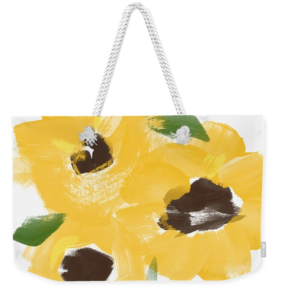 Sketchbook Sunflowers- Art By Linda Woods Weekender Tote Bag