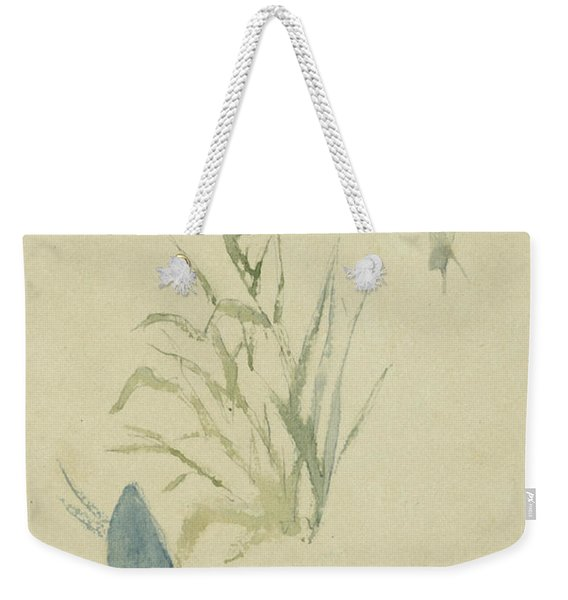 Sketches Of Snails, Flowering Plant Weekender Tote Bag