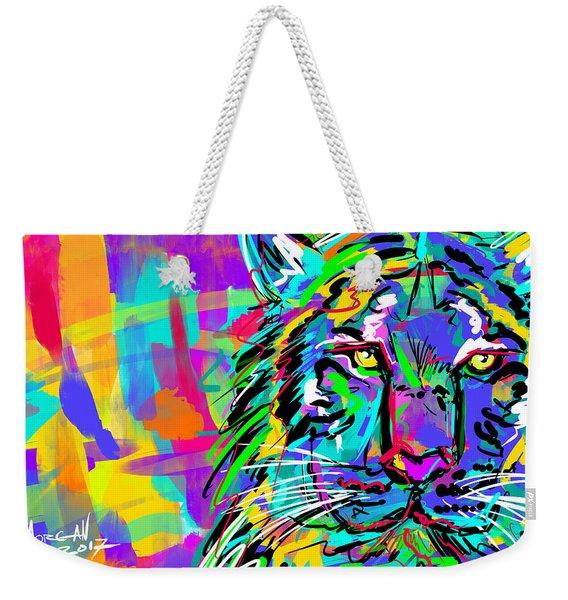 Sketchy Tiger Weekender Tote Bag