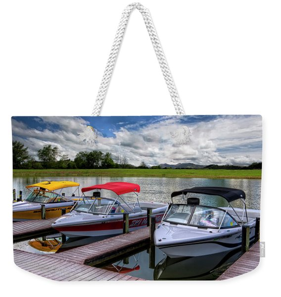 Ski Nautique Panorama Weekender Tote Bag
