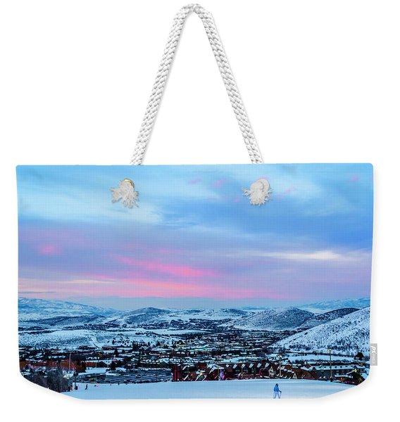 Ski Town Weekender Tote Bag