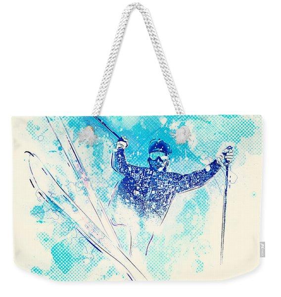 Skiing Down The Hill Weekender Tote Bag