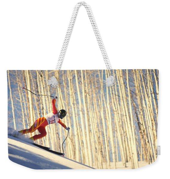 Skiing In Aspen, Colorado Weekender Tote Bag