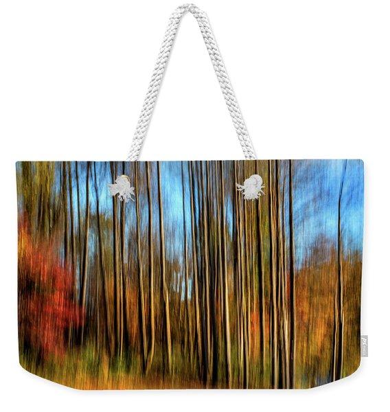 Skinny Forest Swipe Weekender Tote Bag