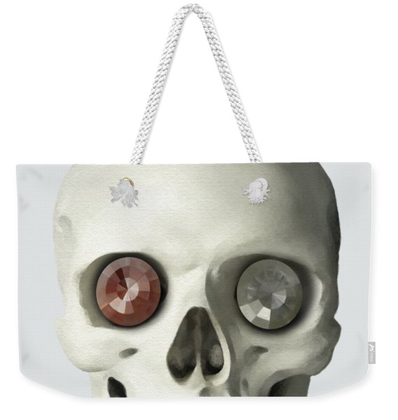 Skull And Bird Weekender Tote Bag