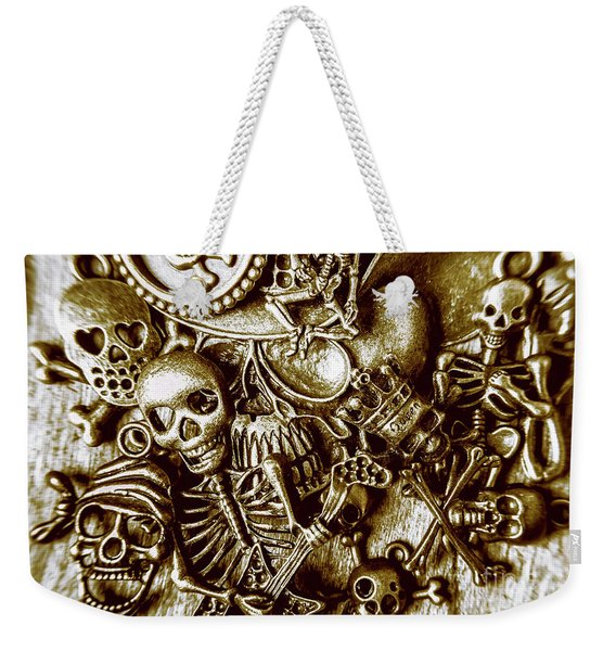 Skull And Cross Bone Treasure Weekender Tote Bag