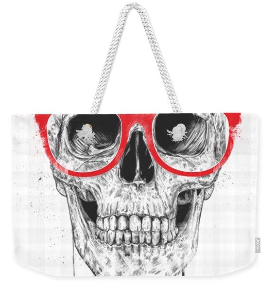 Skull With Red Glasses Weekender Tote Bag
