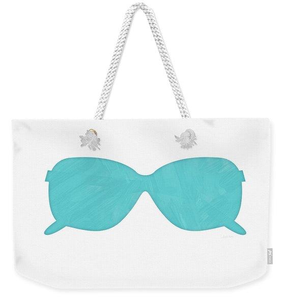 Sky Blue Sunglasses- Art By Linda Woods Weekender Tote Bag
