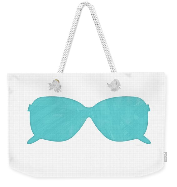 Sky Blue Sunglasses- Art By Linda Woods Weekender Tote Bag