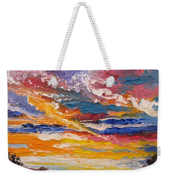 Sky In The Morning.             Sailor Take Warning  Weekender Tote Bag